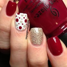16 Bloody Hot Red Nails for Women (61849)