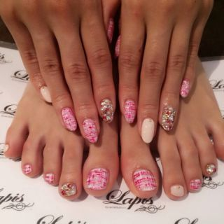 Satomin's Blog|New Nail️ツイード(≧∇≦) by 八鍬里美【さとみん】|CROOZ blog (63660)