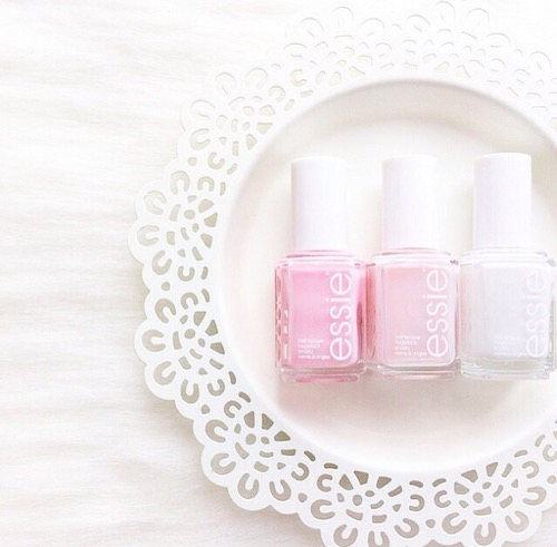 Pink & White Essie Nail Polish. | We Heart It (64163)