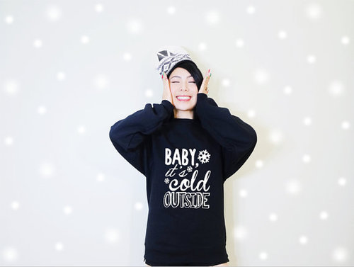 Baby it's cold outside Christmas Holiday Fleece by MydaGreat | We Heart It (64956)