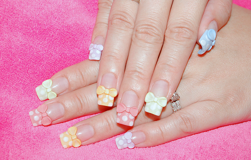 girly nailart | We Heart It (91224)