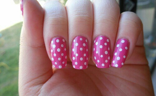 Pink nails 😊 | We Heart It (91284)