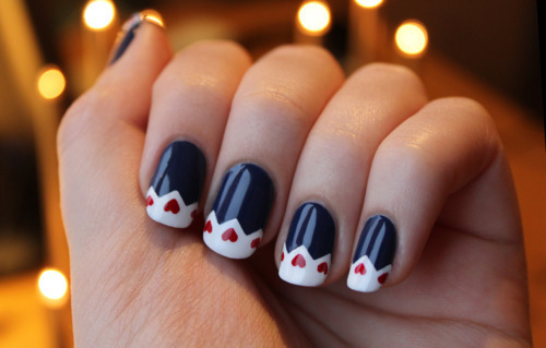 heart nails | via Tumblr | We Heart It (92053)