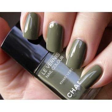 Chanel Khaki Vert | Neglelakkmani from neglelakkmani.com | FASHIOLISTA | love your style! | We Heart It (92076)