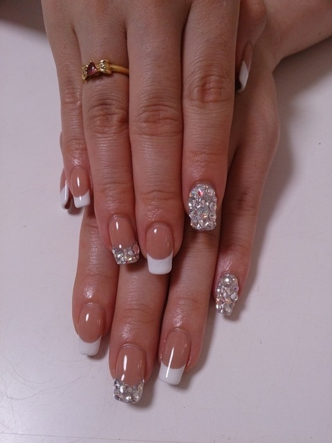 S様 new nails#あゆフレンチ風|岡山ネイルサロンR(倉敷) (97976)