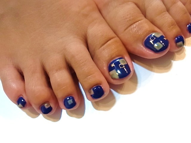 Foot nail~レトロ柄 | NailClue BR (98299)