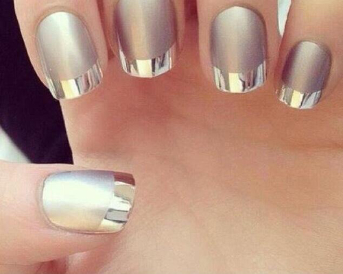 Nails metalic | We Heart It (103517)