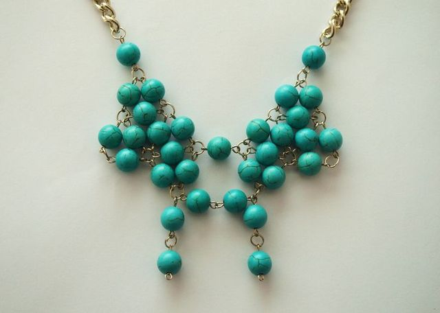 turcoise beaded necklace   My fave stone   Pinterest (107249)
