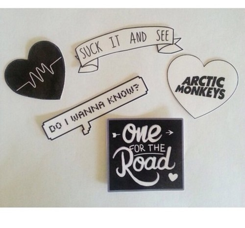 Jewels: stickers, arctic monkeys, heart, b | We Heart It (108613)