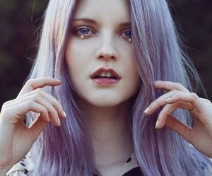 lilac hair | We Heart It (117409)