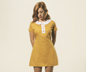 Mustard yellow and white Peter Pan mod 1960's by FrenchieYork | We Heart It (117644)