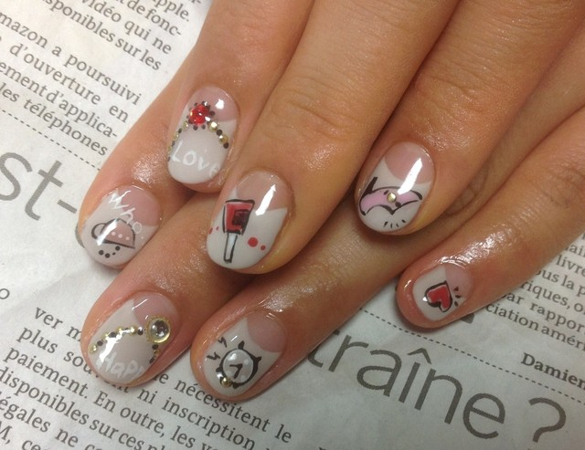 落書きネイル : Nail atelier Cocon~ nail art & care (118231)