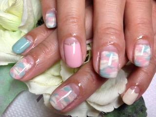 Calgel Salon FloraNail-フローラネイル- パステル迷彩マーブル (125127)
