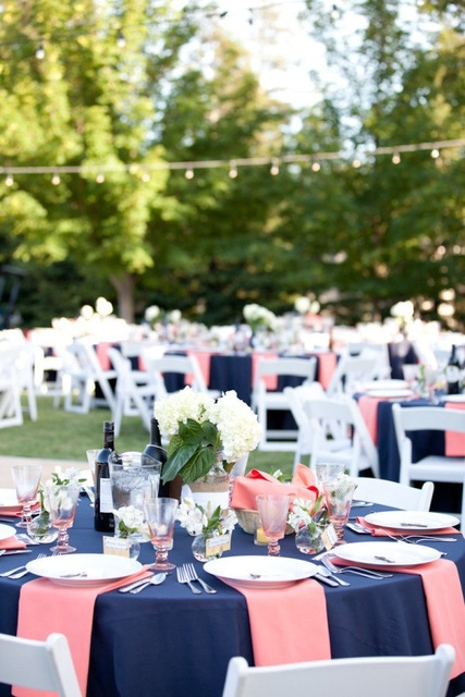 Navy and bubble gum. Photography by marinkristine.com, Floral Design by stemsfloristvacaville1.com, Wedding Day Coordination by 2chicevents.com | Pinterest (125371)