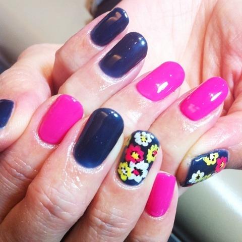 ネイビー&ピンクネイル キュート|CORSO by k-two さのちゃん の ブログ (125378)