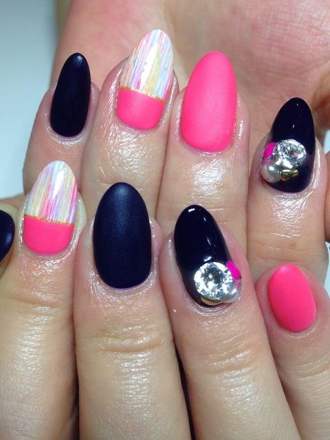 ピンク&ネイビーマットネイル♪ - 札幌ネイルサロン フローレン - Yahoo!ブログ (125393)