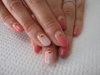 北浦和ネイルサロン wicket nail | 可愛い指先ピンクの逆フレンチネイル (125434)
