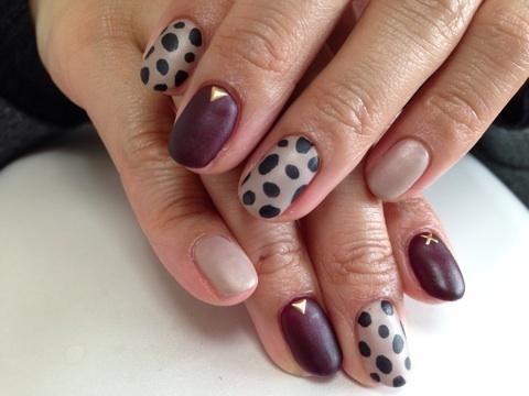 マットコーティングのダルメシアンネイル Cocoon nail 下北沢(旧BBNAILseoul) (125904)