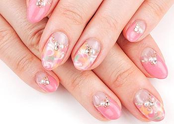 nail salon Biene|ネイルデザイン・ネイルカタログ:トロピカルマーブル/レッツビューティ (125986)
