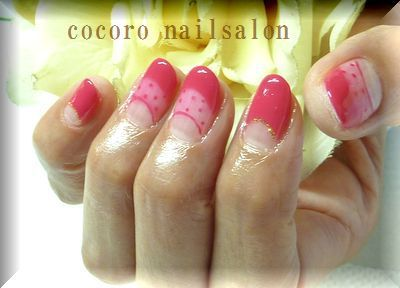 滋賀県野洲市のプライベートネイルサロン「COCORO nail salon」:シースルーネイル。 (126052)