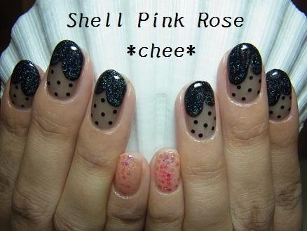 ブラック シースルー ☆ ネイル ( ネイルケア ) - Shell Pink Rose 〜S.P.R〜 - Yahoo!ブログ (126057)