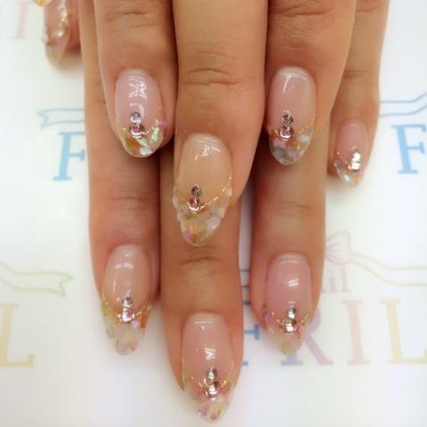 シェルフレンチネイル♡|亀有ネイルサロン『nail FRIL』 (132267)