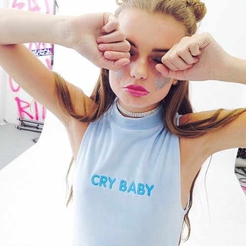 cry baby | We Heart It (143550)