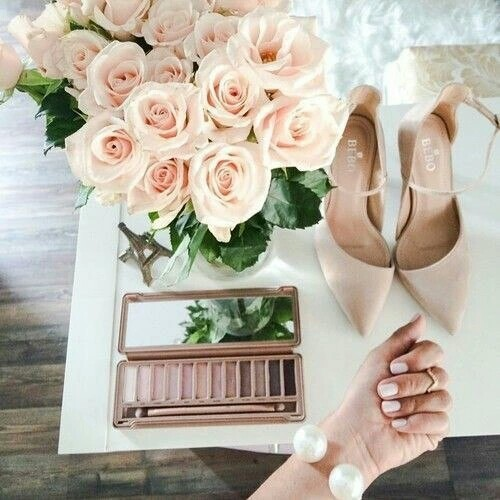 Beige, pink and white 💎 | We Heart It (146294)