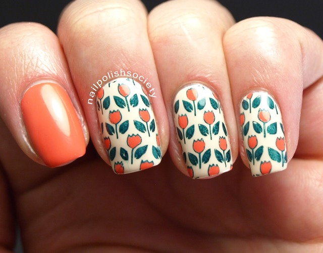 Nail Polish Society: Tiptoe Through the Tulips With MoYou Stamping (150572)