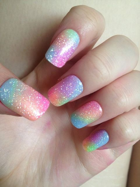 Pastel Rainbow Nails. Pastel goth seems to be a stubborn style that refuses to leave! Just as well there are nail ideas like these and so many past… | Pinterest (155826)