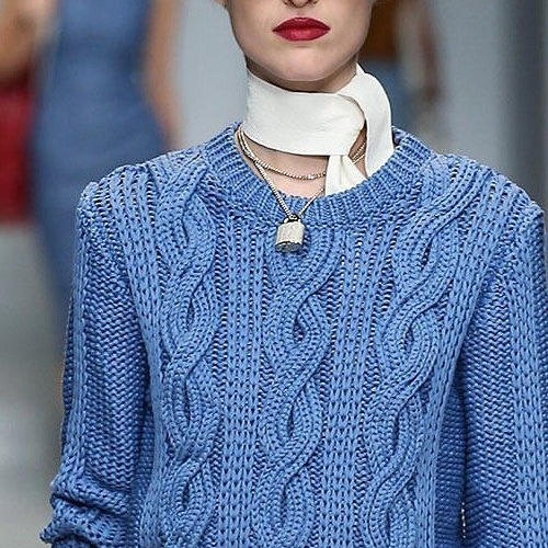 Trussardi Spring 2015 RTW Cable knit | My favorite Fashion | Pinterest (156415)