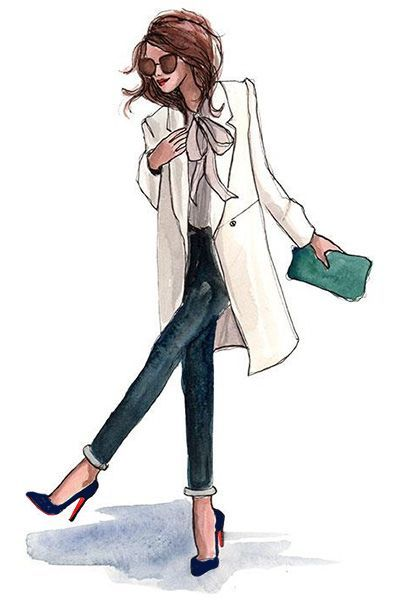 #ChristianLouboutin #OfficeLady | Illustration of Fashion Shoes | Pinterest (160809)