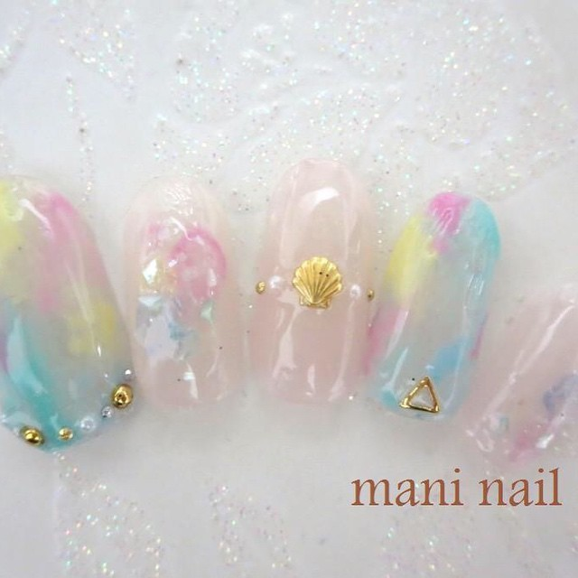 Instagram photo by @maninail_yuki (nail salon mani nail) | Iconosquare (164195)