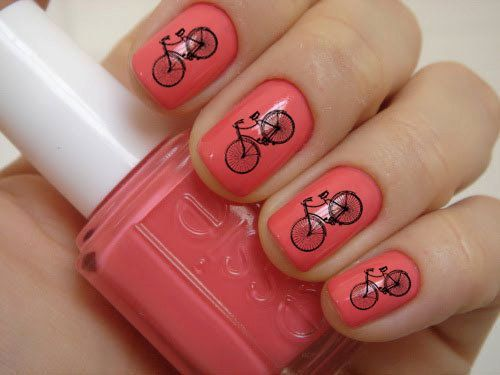 Vintage Bicycle Nail Decals 36Ct. via Etsy | nails | Pinterest (174749)