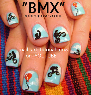 "Robin Moses Nail Art: ""bmx nails"" ""bike nails"" ""frog nails"" ""frog with braces"" ""tangled nail art"" ""cartoon nails"" ""minion nails"" ""frankenweenie nail art"" ""pixar nails"" ""disney nails"" ""mickey mouse nail art"" (174773)"