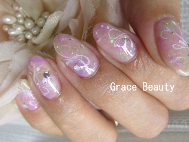 プライベートネイルサロン☆Grace Beauty Nail☆:あじさいネイル (180033)