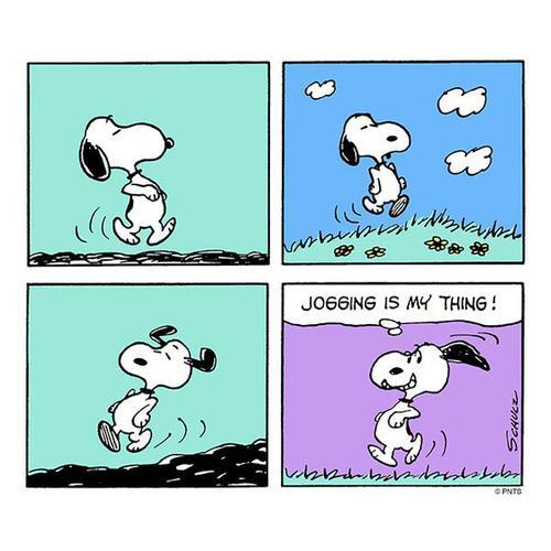 Snoopy stays active.  | We Heart It (180499)