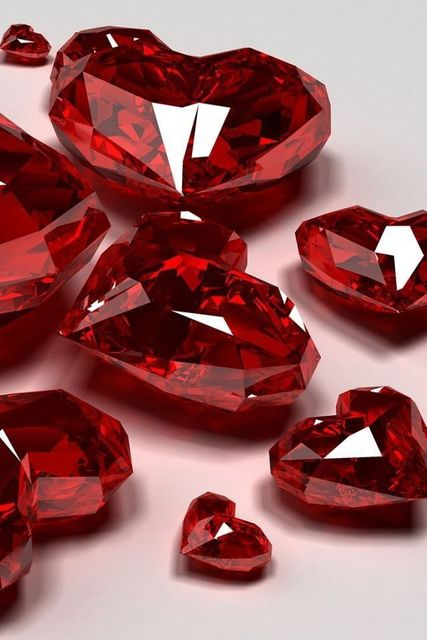 Red | Rosso | Rouge | Rojo | Rød | 赤 | Vermelho | Color | Colour | Texture | Form | Pattern | Ruby hearts. | ReD | Pinterest (186981)