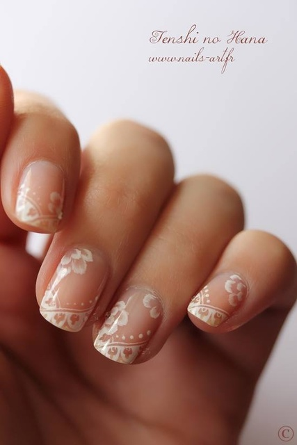 i love these lace wedding nails <3 #wedding #nails #lace #vintage #nailart | Nail | Pinterest (204051)