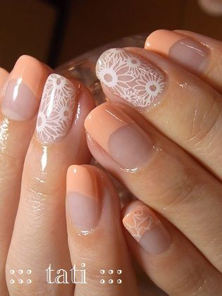 I love the white against the bare nail, the rest I don't like at all. | Nail impressions | Pinterest (204053)