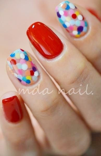 Colorful dots - confetti mani - nail art - nails - dotticure | Nail | Pinterest (204256)