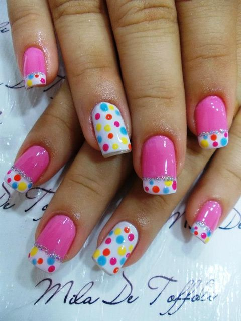 pink and dots nail art | fashion | Pinterest (204259)