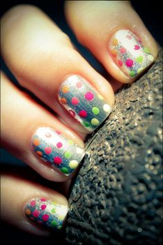 neon spots with a silver base | Magic Fingers | Pinterest (204262)