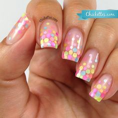 Nails of the Day: Pastel Polka Dots (204269)