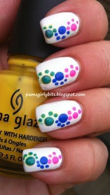 cute dots nails-looks like paw prints | Nail art | Pinterest (204273)
