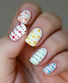 Manicurity Rainbow Garland Dot Nails | nail art | Pinterest (204274)