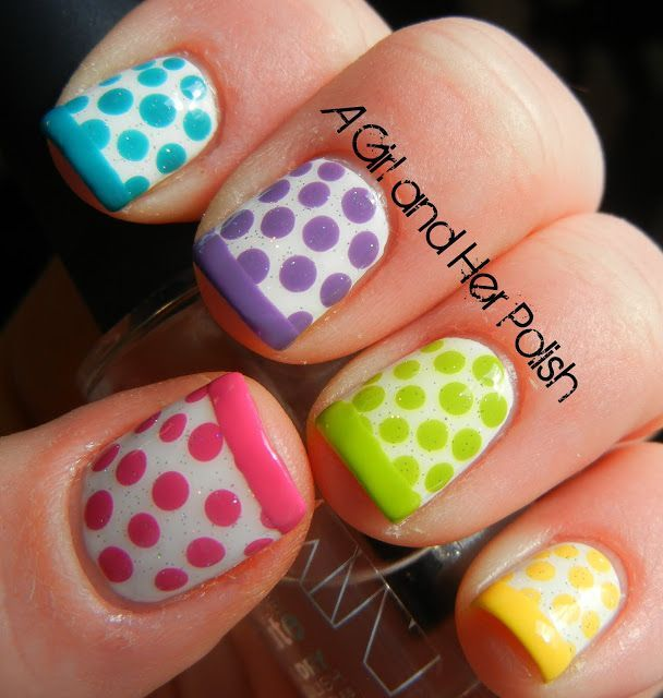 A Girl and Her Polish: Dotty French Tutorial .... this would be fun for Easter | Uñas | Pinterest (204275)