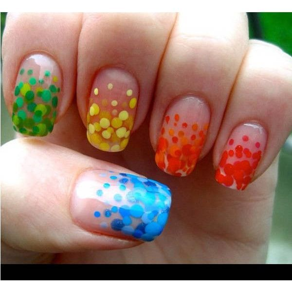 Super cool nails found on Polyvore, love the yellow ones! Add glitter and you've got a winner! | Nail Colour | Pinterest (204276)
