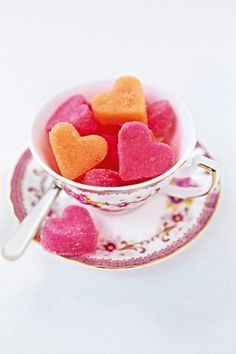 Heart shaped sugar cubes; DIY Wedding Idea (BridesMagazine.co.uk) (207931)