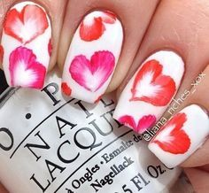 Nail Art - Floural hearts, red & orange | Nail | Pinterest (207953)